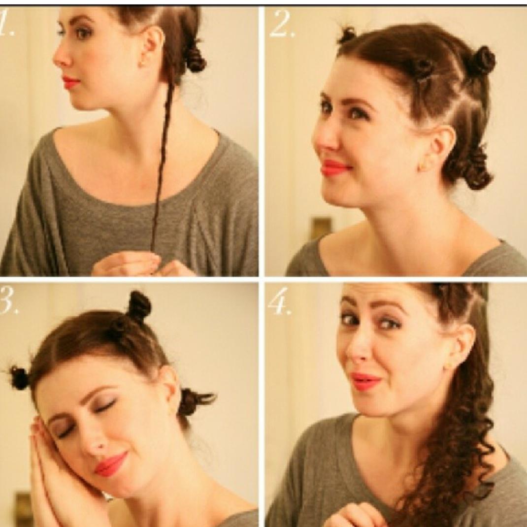 Легкие кудри на средние волосы в домашних условиях фото