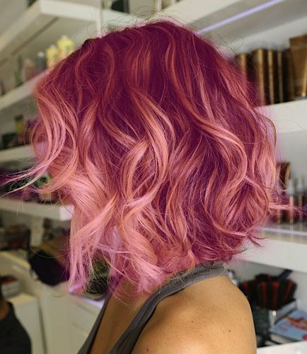 Hairstyles Of The Day. Pink Hair