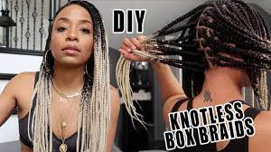Doing My OWN Knotless Box Braids! (BEST Feed-In Method Explanation)